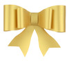 Paper Bow Topper Gold
