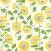 Sunflower - Cream, Black/Yellow and Green Metallic