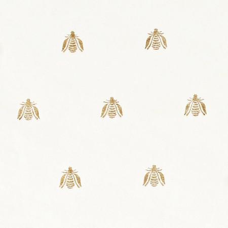 Gift Wrap - Bee - White
