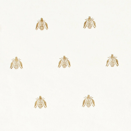 Gift Wrap - Bee - White
