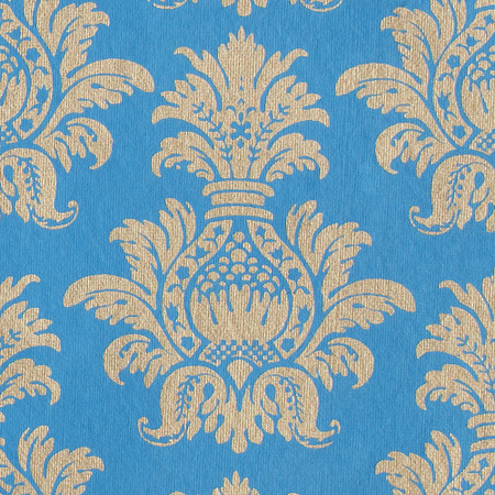 Gift Wrap - Pineapple - Gold on Blue