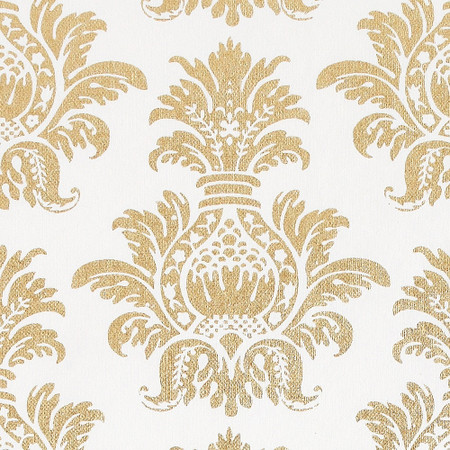 Gift Wrap - Pineapple - Gold on White