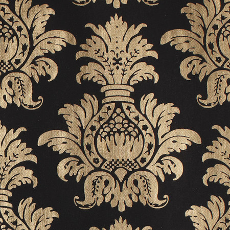 Gift Wrap - Pineapple - Gold on Black