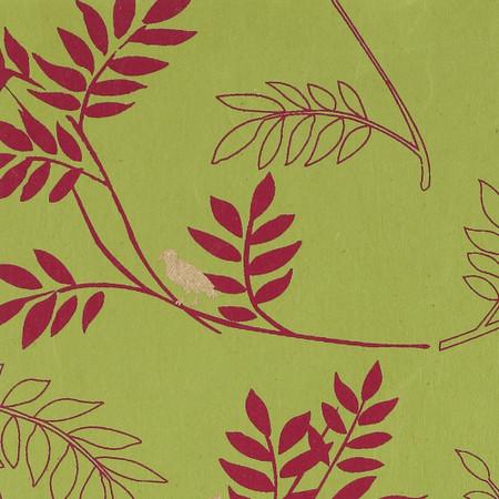 Gift Wrap - Twig - Green