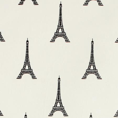Gift Wrap - Eiffel Tower - Black on Cream