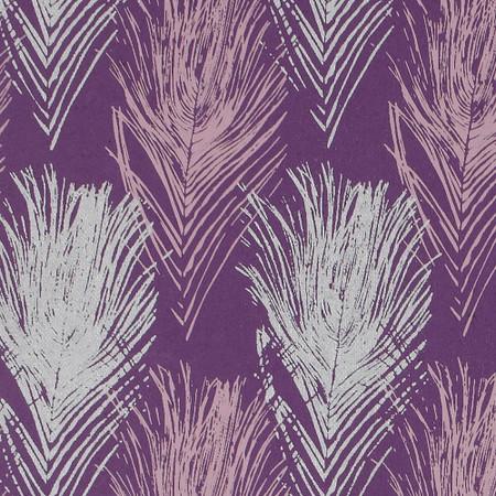Gift Wrap - Peacock - Purple