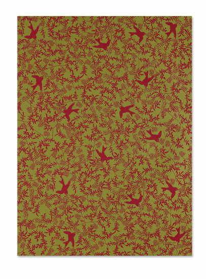 red swallowon bamboo gift wrap