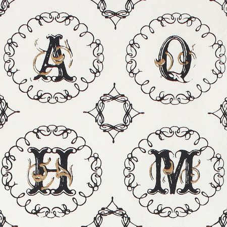 Gift Wrap - Alphabet - Cream