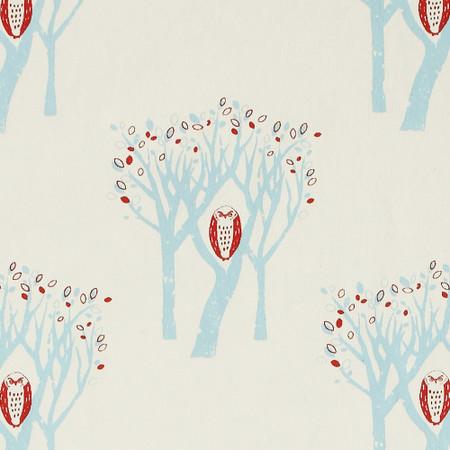 Gift Wrap - Owl - Cream