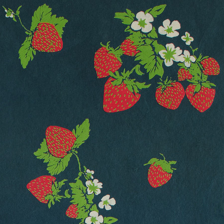 Gift Wrap - Strawberries - Midnight Blue