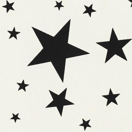 Gift Wrap - Stars - Black on Cream