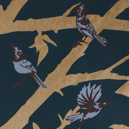 Gift Wrap - Blue Jays - Midnight Blue