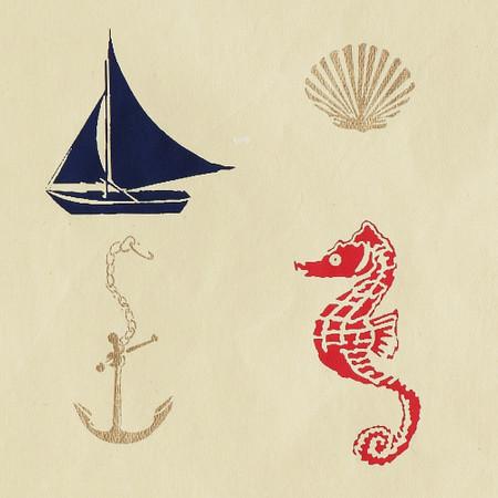 Gift Wrap - Nautical - Cream