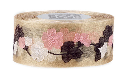Garland Cherry Blossom Ribbon - Champagne