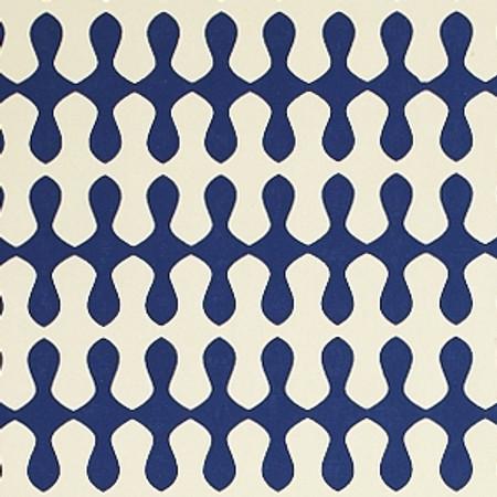 Gift Wrap - Wave - Cream/Blue
