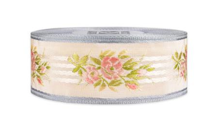 Vintage Floral Ribbon - Lavender