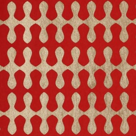 Gift Wrap - Wave - Red/Metallic Gold