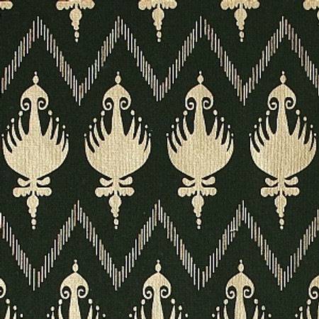 Gift Wrap - Ikat - Hunter Green/Metallic Gold