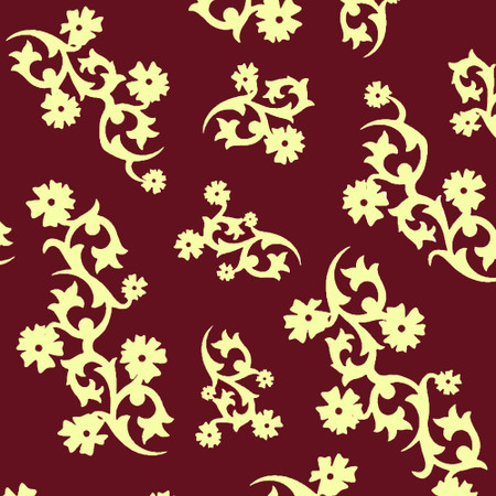 Gift Wrap - Scandinavian Holiday - Burgundy/Cream