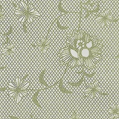 Gift Wrap - Floral Lace - Cream/Metallic Cream