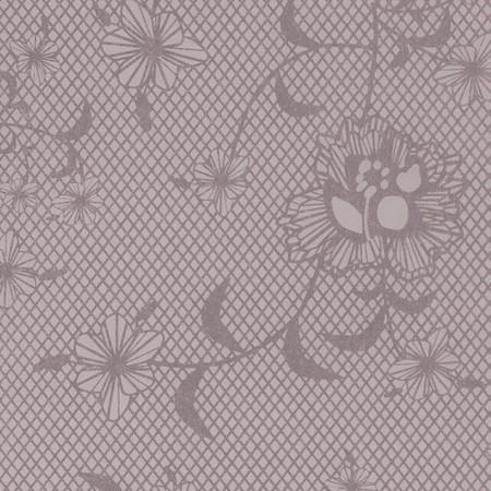 Gift Wrap - Floral Lace - Lavender/Metallic Lavender