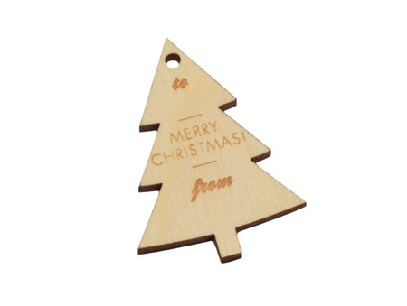 Wooden Tag - Merry Christmas