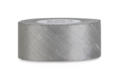 Dupioni Silk Ribbon - Pewter