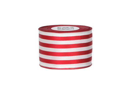Ascot Ribbon - Red/Cream