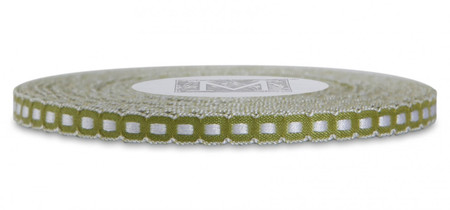 Scalloped Trim Ribbon - Kiwi