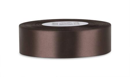 Custom Printing on Double Faced Satin Ribbon - Velvet Brown