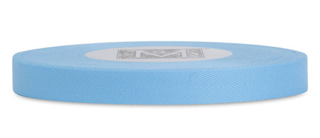 Custom Printing on Herringbone Ribbon - Sky Blue