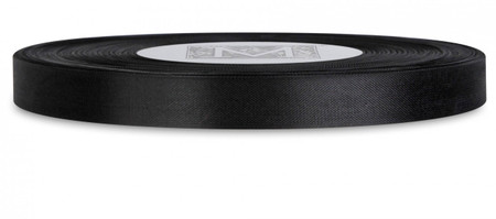 Custom Printing on Rayon Trimming Ribbon - Black