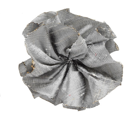 Dupioni Rose Topper - Pewter
