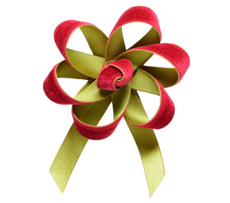 Velvet Satin Flower Topper - Rose Velvet/Lime Satin