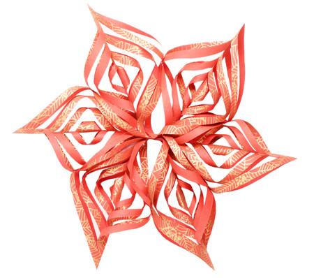 Snowflake Topper - Red Poinesettia