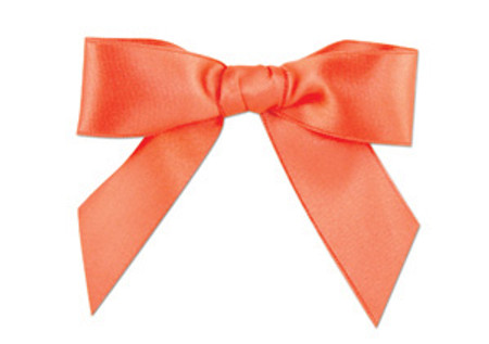 Embossed Edge Double Faced Satin - Coral