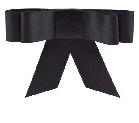 Layered Bow Topper - Black