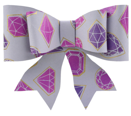 Paper Bow Topper - Jewels Lilac/Purple