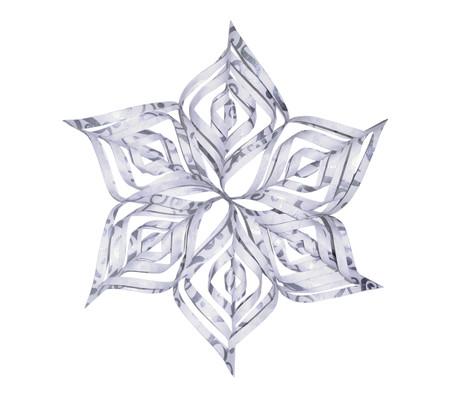 Snowflake Topper - Flourish Silver