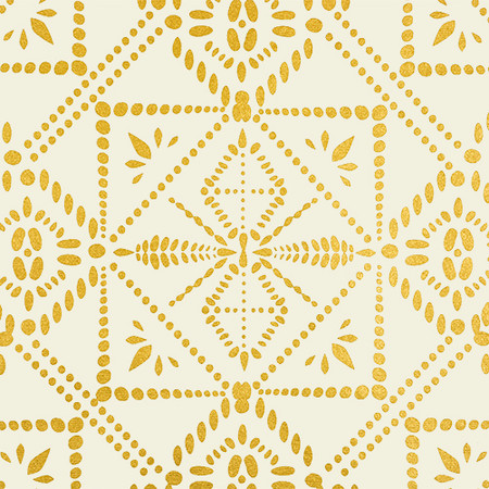 Gift Wrap - Batik - Cream and Metallic Gold