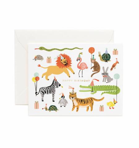 Party Animals Birthday Card