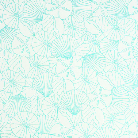 Gift Wrap - Shells - Cream/Turquoise