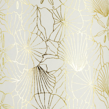 Gift Wrap - Shells - Cream/Metallic Gold