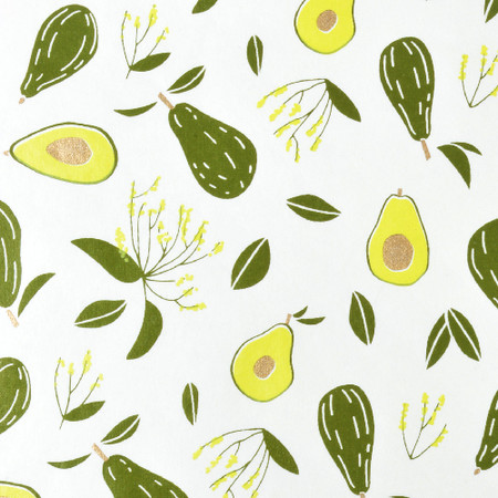 Gift Wrap - Avocados - Cream/Dark Olive