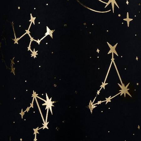 Zodiac - Black & Gold foil