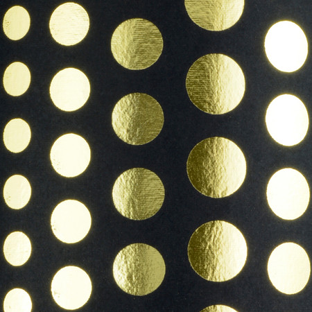 Polka Dots - Black & Gold foil