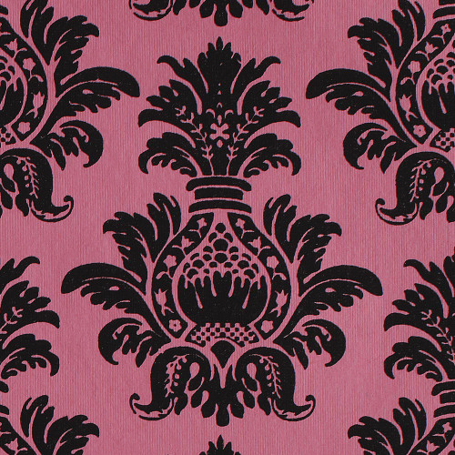 Gift Wrap - Pineapple - Black on Pink