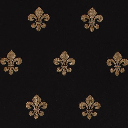 Gift Wrap - Fleur de Lis - Black