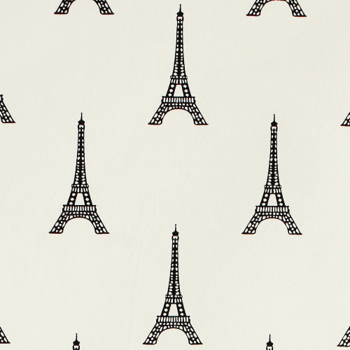 Gift Wrap - Eiffel Tower - Black on Cream