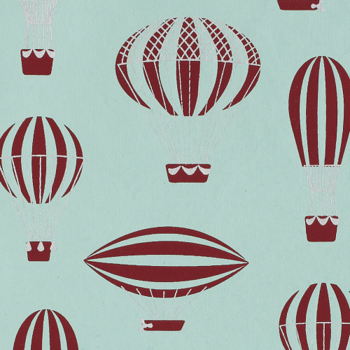 Gift Wrap - Ancient Airships - Blue